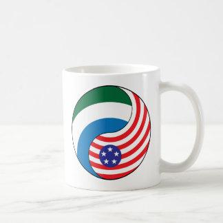 Yingヤンシエラレオネアメリカ コーヒーマグカップ