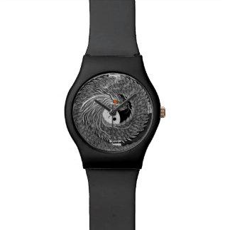 yinyangの日本のドラゴンの腕時計 腕時計