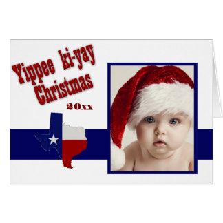 Yippeeのki-yayクリスマスの写真 カード