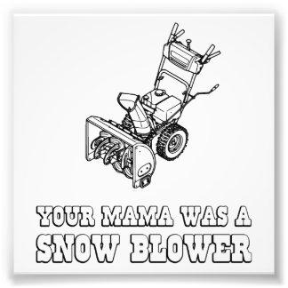Yoのママのロボット冗談-彼女は除雪車でした フォトプリント