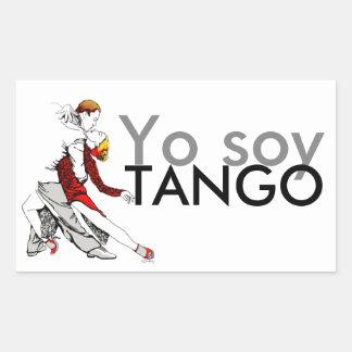 Yoの大豆のタンゴ 長方形シール