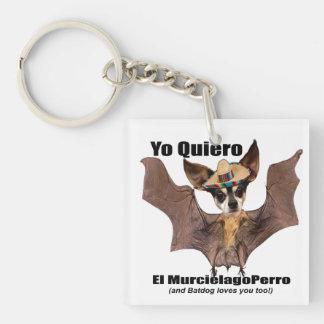 Yoのquiero elのmurcielagoのperro - I愛Batdog キーホルダー