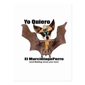 Yoのquiero elのmurcielagoのperro - I愛Batdog ポストカード