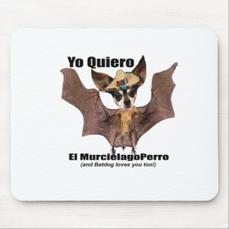Yoのquiero elのmurcielagoのperro - I愛Batdog マウスパッド