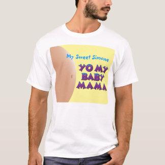 YO私のベビーのママ-お父さん(黄色)のためのTシャツ Tシャツ