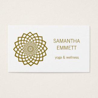Yoga Instructor Minimalist Mandala Business Card 名刺