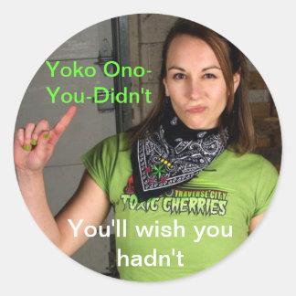 Yoko Ono Didn't ラウンドシール