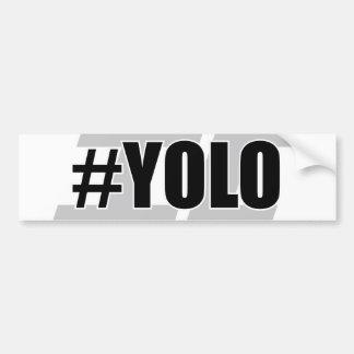 YOLO Hashtag バンパーステッカー