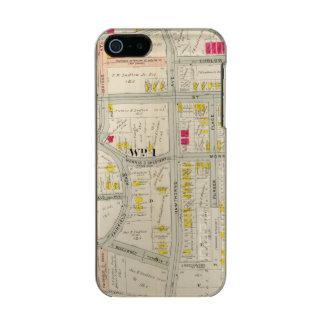 Yonkersの地図の地図書 メタリックiPhone SE/5/5sケース