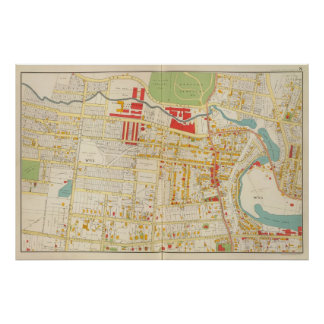 Yonkersの地図書の地図2 ポスター