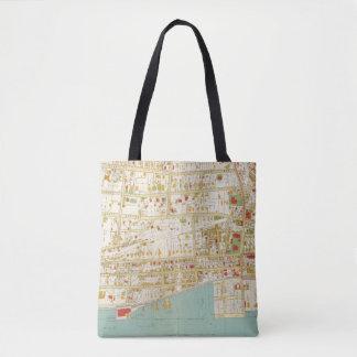 Yonkersの地図書 トートバッグ