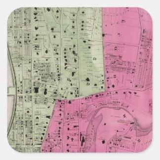 YonkersのNYの地図書 スクエアシール