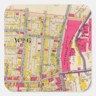 Yonkersニューヨークの地図書 スクエアシール