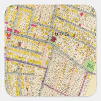 Yonkersニューヨークの地図 スクエアシール