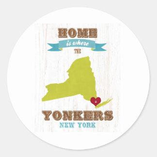 Yonkers、ニューヨーク-どこあります家 ラウンドシール