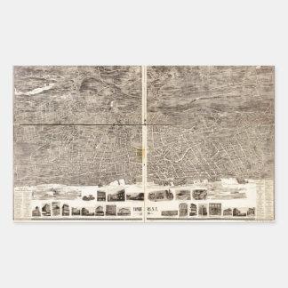 Yonkers、ニューヨーク(1899年)の空中写真 長方形シール