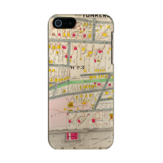 Yonkers NYの地図 メタリックiPhone SE/5/5sケース