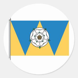 Yorkshirianの西の旗 ラウンドシール