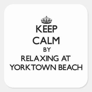 Yorktownのビーチヴァージニアでリラックスによって平静を保って下さい スクエアシール