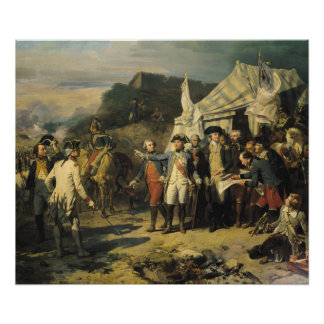 Yorktownの包囲、1781年10月17日1836年 ポスター