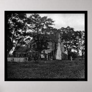YorktownのAugustineムーアの家の兵士 ポスター