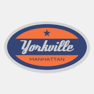 Yorkville 楕円形シール