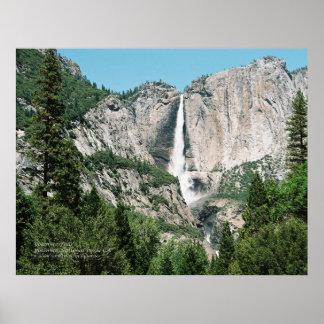Yosemite Falls 2のプリント ポスター
