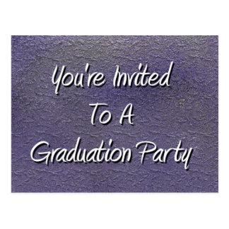 You' 卒業パーティーに招待される再 ポストカード