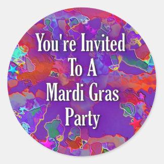 You&apos'reは謝肉祭のパーティーに招待されました ラウンドシール