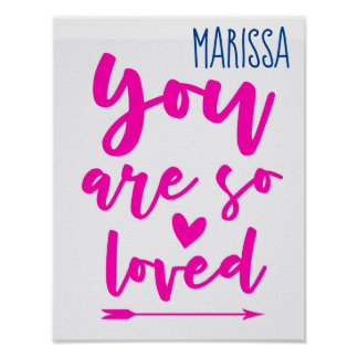 You Are Loved Baby Nursery Wall Art Print Poster ポスター