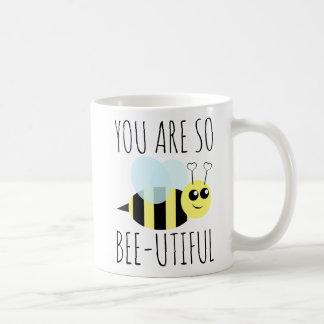 You Are so Bee Utiful コーヒーマグカップ