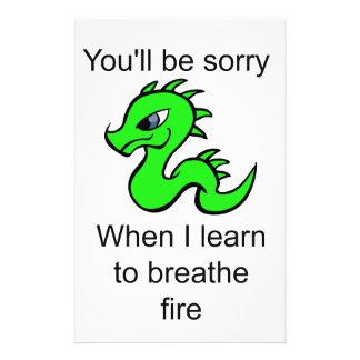Youllは残念-ベビーのドラゴンです 便箋