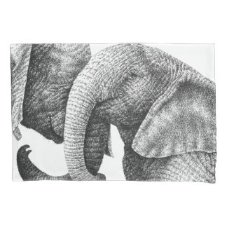 Young African Elephants 枕カバー