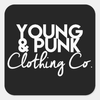 """YOUNG&PUNK Darth- """"ステッカー人へのそれ"""" スクエアシール"""