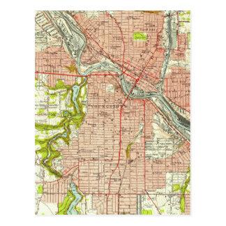 Youngstownオハイオ州(1951年)のヴィンテージの地図 ポストカード