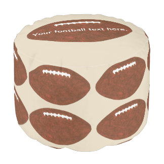 Your text, Football footballs themed sports pouf プーフ