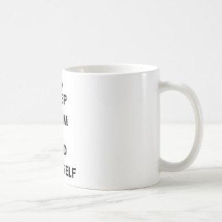 YOURSELF.png穏やか、発見保って下さい コーヒーマグカップ