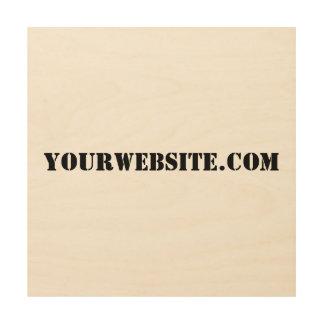 YourWebSite.com ウッドウォールアート