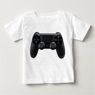 Youtubeのロゴの白 ベビーTシャツ