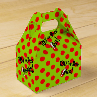 You've Been Nice Naughty Holiday Party Favor Box フェイバーボックス