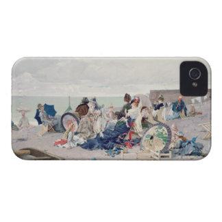 Yport 1878年のビーチ(キャンバスの油) Case-Mate iPhone 4 ケース
