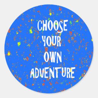yrを所有します冒険-知恵の原稿のタイポグラフィ--を選んで下さい ラウンドシール