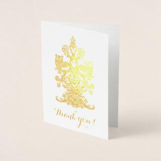 yuの金王室のなフクロウを感謝していして下さい 箔カード