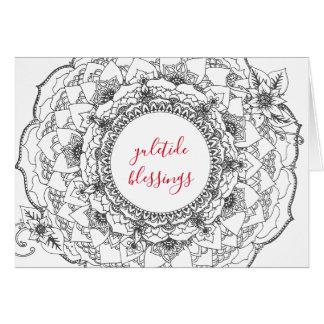 Yule Mandala Holiday Card カード