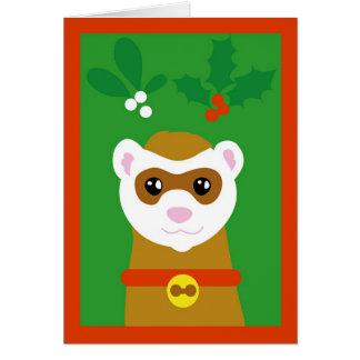 Yuletideのフェレット カード