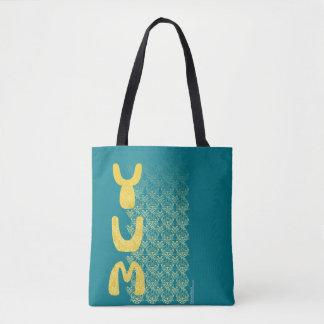 YUM朝食のダマスク織パターン芸術 トートバッグ