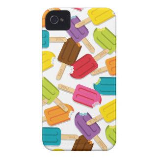 Yum! アイスキャンデーのブラックベリーの箱-白 Case-Mate iPhone 4 ケース