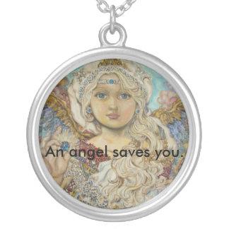 yumiのsugaiの天使は、天使救います シルバープレートネックレス