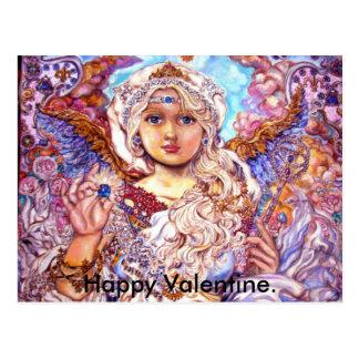 yumiのsugaiの天使、幸せなバレンタイン ポストカード