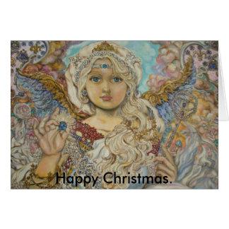 yumiのsugaiの天使、楽しいクリスマス カード
